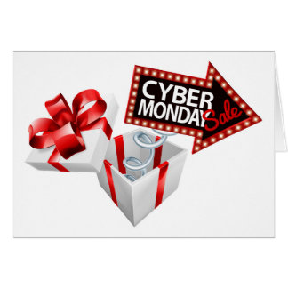Cyber Monday Black Friday Sale Sign Card