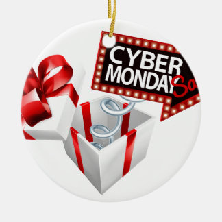 Cyber Monday Black Friday Sale Sign Ceramic Ornament