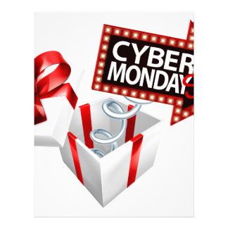 Cyber Monday Black Friday Sale Sign Letterhead