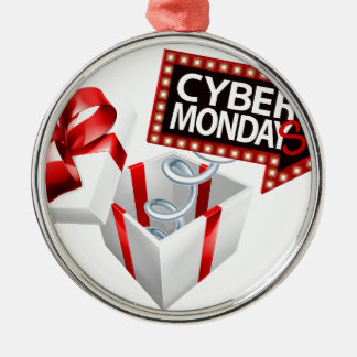 Cyber Monday Black Friday Sale Sign Metal Ornament