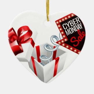 Cyber Monday Box Spring Sale Sign Ceramic Ornament