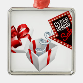Cyber Monday Box Spring Sale Sign Metal Ornament