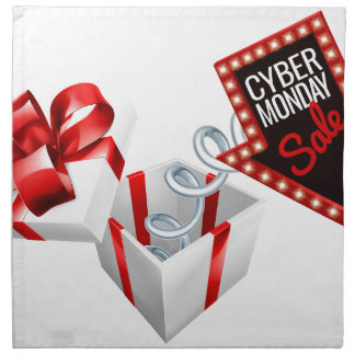 Cyber Monday Box Spring Sale Sign Napkin