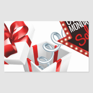 Cyber Monday Box Spring Sale Sign Sticker