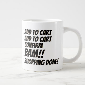 Cyber Monday Deal Christmas Online Shopping Large Coffee Mug