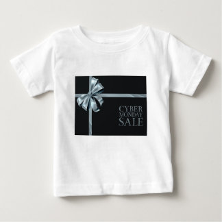 Cyber Monday Friday Sale Silver Ribbon Bow Design Baby T-Shirt