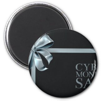 Cyber Monday Friday Sale Silver Ribbon Bow Design Magnet