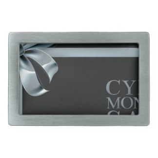 Cyber Monday Friday Sale Silver Ribbon Bow Design Rectangular Belt Buckle