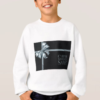 Cyber Monday Friday Sale Silver Ribbon Bow Design Sweatshirt