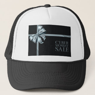 Cyber Monday Friday Sale Silver Ribbon Bow Design Trucker Hat