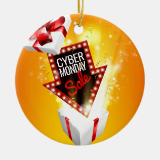 Cyber Monday Sale Exciting Gift Sign Ceramic Ornament