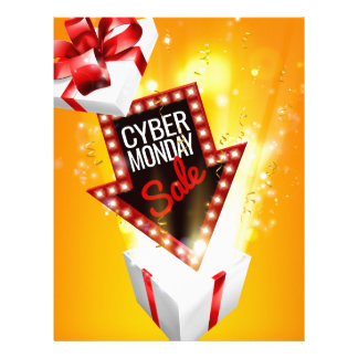 Cyber Monday Sale Exciting Gift Sign Letterhead