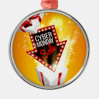 Cyber Monday Sale Exciting Gift Sign Metal Ornament