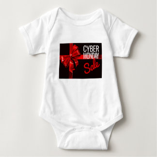 Cyber Monday Sale Gift Ribbon Bow Sign Baby Bodysuit