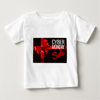 Cyber Monday Sale Gift Ribbon Bow Sign Baby T-Shirt