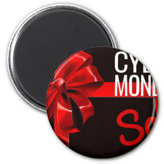 Cyber Monday Sale Gift Ribbon Bow Sign Magnet