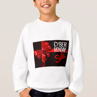 Cyber Monday Sale Gift Ribbon Bow Sign Sweatshirt