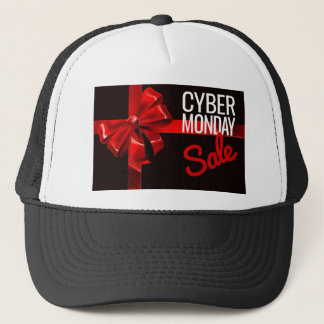 Cyber Monday Sale Gift Ribbon Bow Sign Trucker Hat