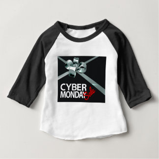 Cyber Monday Sale Silver Ribbon Gift Bow Design Baby T-Shirt