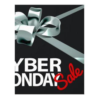 Cyber Monday Sale Silver Ribbon Gift Bow Design Letterhead