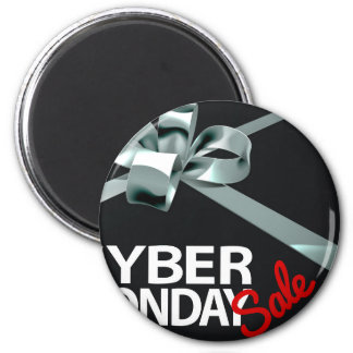 Cyber Monday Sale Silver Ribbon Gift Bow Design Magnet