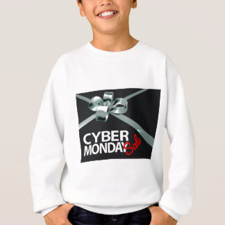 Cyber Monday Sale Silver Ribbon Gift Bow Design Sweatshirt