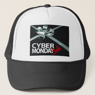 Cyber Monday Sale Silver Ribbon Gift Bow Design Trucker Hat