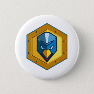 Cyber Punk Chicken Hexagon Icon 2 Inch Round Button