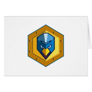 Cyber Punk Chicken Hexagon Icon Card