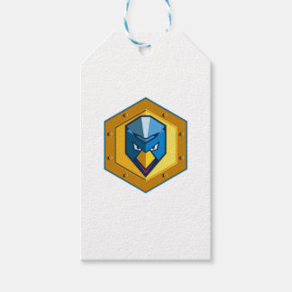 Cyber Punk Chicken Hexagon Icon Gift Tags