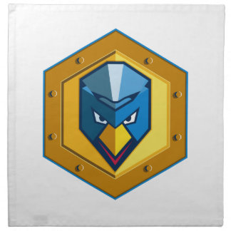 Cyber Punk Chicken Hexagon Icon Napkin