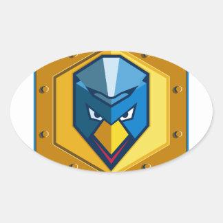 Cyber Punk Chicken Hexagon Icon Oval Sticker