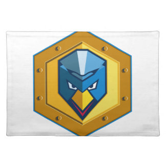 Cyber Punk Chicken Hexagon Icon Placemat