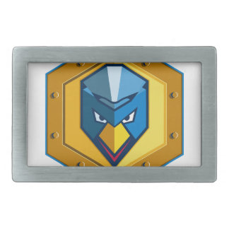 Cyber Punk Chicken Hexagon Icon Rectangular Belt Buckles