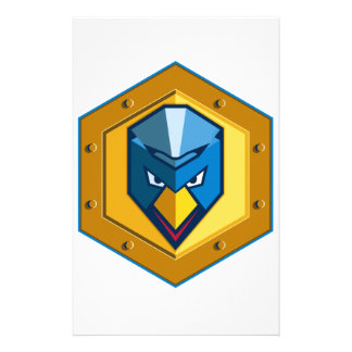Cyber Punk Chicken Hexagon Icon Stationery