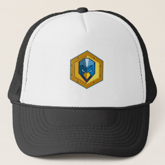 Cyber Punk Chicken Hexagon Icon Trucker Hat