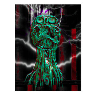 Cyber Scream Gothic Skull Mini Print Art Card