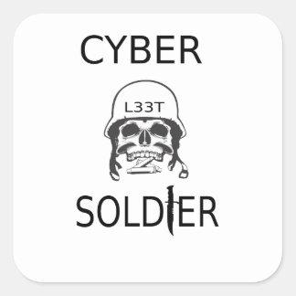 Cyber Soldier Hacker Stickers