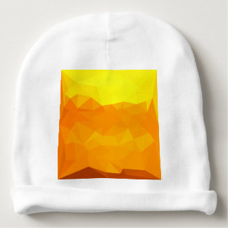 Cyber Yellow Abstract Low Polygon Background Baby Beanie