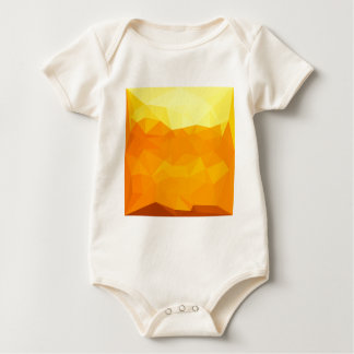 Cyber Yellow Abstract Low Polygon Background Baby Bodysuit