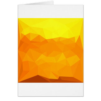 Cyber Yellow Abstract Low Polygon Background Card