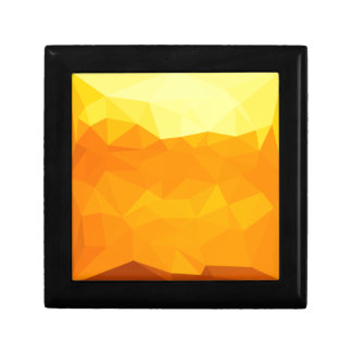 Cyber Yellow Abstract Low Polygon Background Gift Box