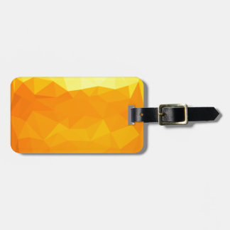 Cyber Yellow Abstract Low Polygon Background Luggage Tag