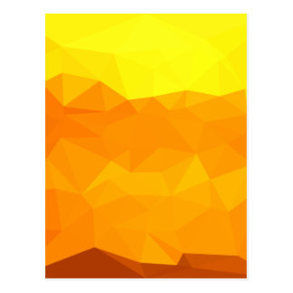 Cyber Yellow Abstract Low Polygon Background Postcard