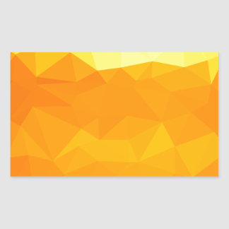 Cyber Yellow Abstract Low Polygon Background Sticker