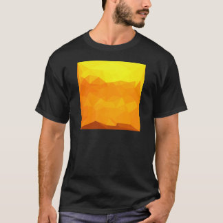 Cyber Yellow Abstract Low Polygon Background T-Shirt