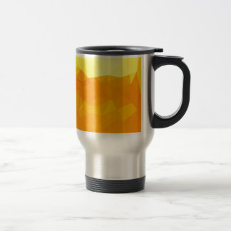 Cyber Yellow Abstract Low Polygon Background Travel Mug