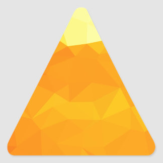 Cyber Yellow Abstract Low Polygon Background Triangle Sticker