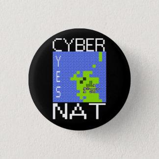 CYBERNAT badge 1 Inch Round Button