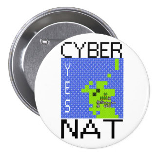 CYBERNAT badge lrg 3 Inch Round Button